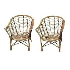 Wooden Chairs - Universal Furniture Brown <b>Set of 2 Bamboo</b> Cane ...