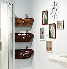 bathroom space savers bathtub storage: hanging baskets is a very smart idea to help you with storage in a small bathroom