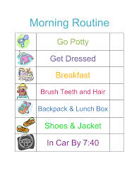 routine chart template daily routine chart template