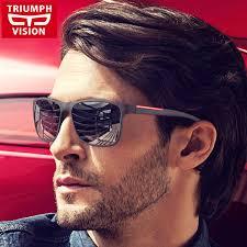 <b>TRIUMPH VISION</b> Black Square Sun <b>Glasses</b> For Men Gradient ...