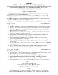 resume examples retail management resume examples sample to write   resume examples top performing manager selected accomplishments as leader and manager or experience as