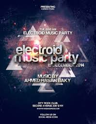 party flyer template anuvrat info electroid party flyer template design resources