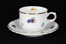 Купить <b>набор чайных пар 250</b> мл бернадотт слива (6 пар) цена 4 ...