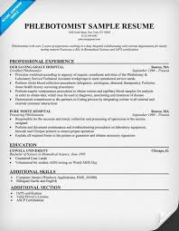 phlebotomist resume sample httpresumecompanioncom phlebotomist resume phlebotomy resume