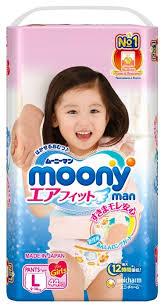 <b>Moony трусики Man для</b> девочек L (9-14 кг) 44 шт. — купить по ...