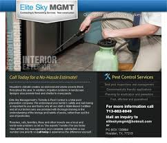 elite sky management llc construction and renovation services flyers