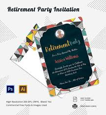 retirement invitation psd vector eps ai printable retirement party invitation template