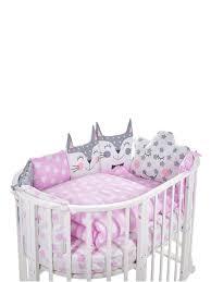<b>Комплект</b> в овальную кроватку <b>Sweet Baby</b> Gioia Rosa (Розовый ...