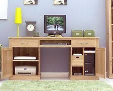 hidden computer desk ebay baumhaus mobel oak hidden office computer