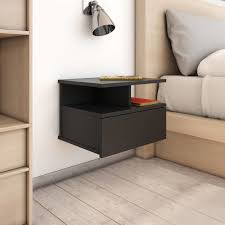<b>Floating Nightstand Black 40x31x27cm</b> Chipboard -