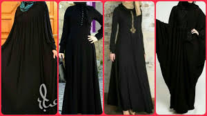 Most Beaytiful Simple & Very Attractive <b>Arabic Black</b> Muslim Abaya ...