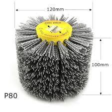 <b>1 pcs 120</b>*100*19mm Nylon Abrasive Wire DuPont Drum Polishing ...