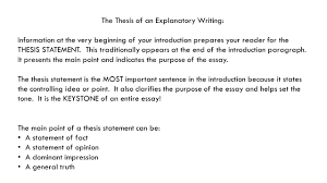 informative explanatory writing explanatory writing requires you the thesis of an explanatory writing information at the very beginning of your introduction prepares
