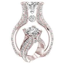 Noble <b>Fashion Women</b> 18K Rose Gold Filled White Sapphire ...