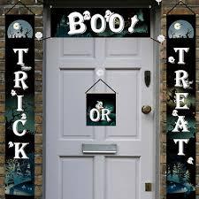 Non-woven Fabrics <b>Halloween Door Banner Couplet</b> Ghost Festival ...