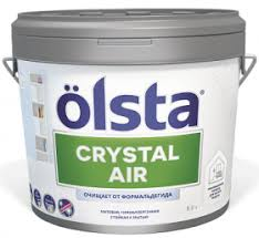 <b>Краска</b> Инновационная <b>Olsta Crystal</b> Air 9л Очищение от ...