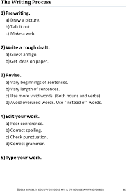 th and th grade writing folder pdf both nouns and verbs d avoid overused words use instead of