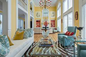 spacious living room in yellow and blue with a hint of orange design sk blue yellow living room