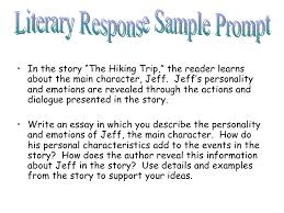 cahsee writing applications scaffolded on demand writing   ltulgtltligtin the story the hiking trip