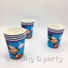 <b>10pcs</b>/lot <b>Mickey</b> Mouse Party Supplies Cardboard <b>Cup</b> Children ...