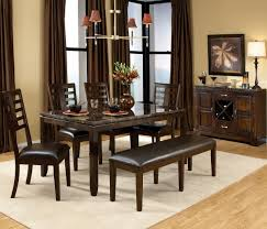 Dining Room Tables With Bench Dining Room Table With Storage Modern Black Dining Room Sets