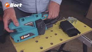 Ленточная шлифмашина <b>Bort BBS</b>-<b>800</b>-<b>T</b> для дома и мастерской ...