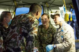 u s department of defense photo essay u s service members and ese army medical personnel treat victims of a 7 3 magnitude earthquake