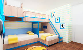 complete wonderful bedroom with fascinating toddler bunk beds and blue curtain above laminate oak flooring children bunk beds safety