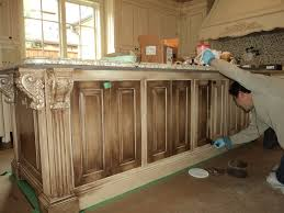 Painted Glazed Kitchen Cabinets Photos Of Painted Kitchen Islands The White Cabinets With A