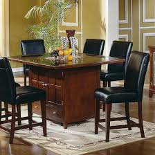 Granite Dining Room Tables Furniture Rectangle Brown Granite Dining Table Top On Beige Rug