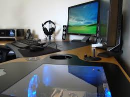 outstanding and creative desk designs with pc build in 1adtcom amazing office desk setup ideas 5