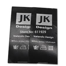 <b>Free Shipping Customized garment</b> black labels with silver text ...