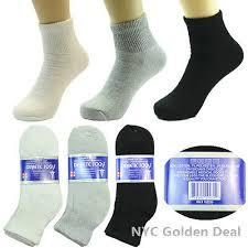 <b>3</b>-12 <b>Pairs</b> Mens Diabetic Ankle Quarter Circulatory Health Socks ...