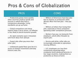 Globalization pros and cons essay   Urban Balance