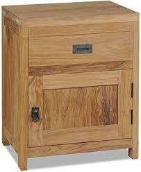 vidaXL Solid Teak <b>Bedside Cabinet 40x30x50</b> cm Nightstand Table ...