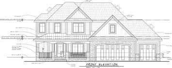 How to  House Plans   ElevationsLet    s look at a finished elevation drawing   all the notes  symbols  and lineweight applied