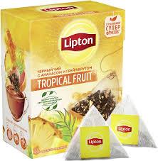 <b>Чай черный</b> в пирамидках <b>Lipton Tropical</b> Fruit <b>Tea</b> с ананасом и ...