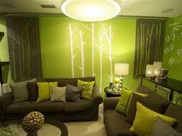 green bedroom interior walls lamp colorful