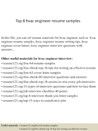hvac resume technician top 8 hvac engineer resume samples in this file you can ref resume hvac technician sample resume