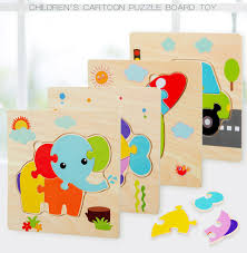 Kids Toys Montessori <b>Puzzles</b> Cartoon Traffic Animal Toys for ...