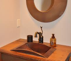 mount bathroom copper sink