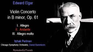 elgar violin concerto in b minor op perlman chicago elgar violin concerto in b minor op 61 perlman chicago barenboim