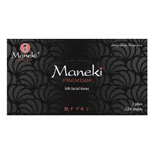 <b>Бумажные салфетки Maneki</b> Black&White с ароматом зеленый ...