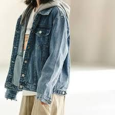 <b>hooded</b> denim <b>jacket</b> women — международная подборка ...