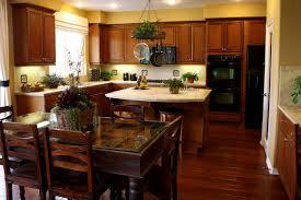 kitchen dark brown wooden dining solid dark wooden flooring kitchen white granite kitchen countertop li