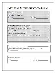 medical authorization form medical treatment authorization and consent permission letter for medical treatment