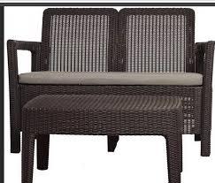 <b>Комплект мебели</b> Tarifa софа+<b>столик</b>, коричневый: продажа ...