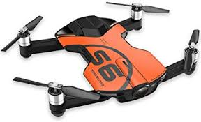 Wingsland S6 Orange 4K30 Foldable Pocket Drone ... - Amazon.com