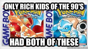 Pokemon Red and Blue memes | quickmeme via Relatably.com