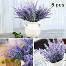 Amazon.com: YBLNTEK Artificial Lavender <b>Flowers</b> Bouquet <b>5 Pcs</b> ...